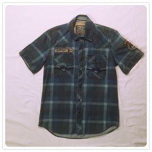 Men's Affliction Black Premium Button Down Shirt